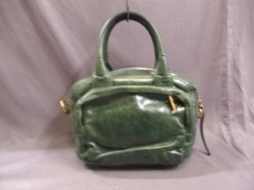 PRADA(プラダ) ハンドバッグ - BN2010 グリーン 革タグ レザー