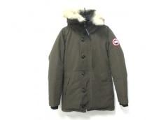 カナダグース ダウンジャケット サイズXS メンズ カーキ 冬物/ファー