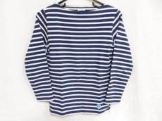 オーシバル 長袖Tシャツ サイズ0 XS レディース ネイビー×白