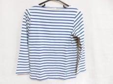 オーシバル 長袖Tシャツ サイズ0 XS レディース 白×ブルー ボーダー