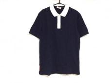 プラダスポーツ 半袖ポロシャツ サイズXL メンズ ダークネイビー×白