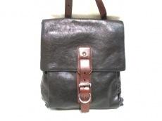 プラダ ショルダーバッグ美品  - VA0805 黒×ブラウン 革タグ レザー
