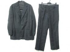 スティレラティーノ シングルスーツ サイズ50 メンズ美品  黒×白