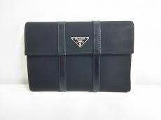 PRADA(プラダ) 3つ折り財布 - 1M0510 黒 ナイロン×レザー