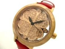 フォリフォリ 腕時計 WF2R005SS レディース ラインストーン/革ベルト