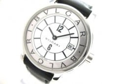 BVLGARI(ブルガリ) 腕時計 ソロテンポ ST29S レディース 革ベルト 白