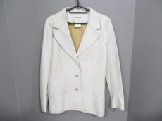 CHANEL(シャネル) ジャケット サイズ40 M レディース 白 レザー