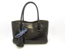 CIVINILE(チビナイル) トートバッグ美品  ナタリー 黒 クロコダイル