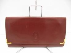 Cartier(カルティエ) クラッチバッグ マストライン ボルドー レザー