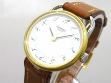 HERMES(エルメス) 腕時計 アルソー - レディース 革ベルト/○R 白