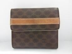 セリーヌ 2つ折り財布 マカダム柄 がま口 PVC(塩化ビニール)×レザー