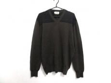 HERMES(エルメス) 長袖セーター サイズXL メンズ ダークブラウン×黒