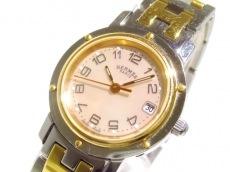 エルメス 腕時計 クリッパーナクレ CL4.221 レディース シェル文字盤