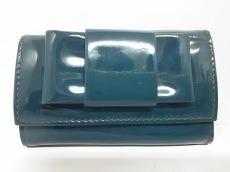 ミュウミュウ キーケース - 5M0222 グリーン リボン/6連フック