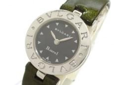 ブルガリ 腕時計 B-zero1 BZ22S レディース エナメル革ベルト 黒