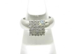 ポンテヴェキオ リング新品同様  K18WG×ダイヤモンド 0.38カラット
