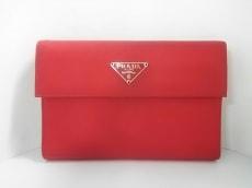 PRADA(プラダ) 3つ折り財布 - M510 レッド ナイロン