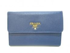 PRADA(プラダ) 3つ折り財布美品  - 1M1426 ネイビー レザー