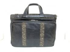 サマンサキングズ ビジネスバッグ 黒×カーキ×ブラウン 部分迷彩柄