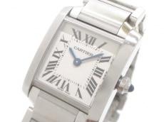 カルティエ 腕時計 タンクフランセーズSM W51008Q3 レディース SS 白