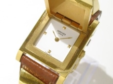 エルメス 腕時計 メドール - レディース 革ベルト/〇Y刻印 白