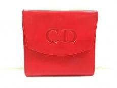 クリスチャンディオール 3つ折り財布 - レッド レザー