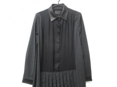 プラダ ワンピース サイズ40S レディース美品  黒×ダークグレー