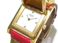 HERMES(エルメス) 腕時計 メドール - レディース 革ベルト/〇Y 白