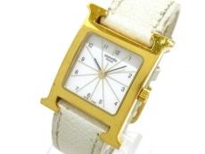 エルメス 腕時計 Hウォッチ HH1.201 レディース 革ベルト/□K 白