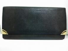 GIVENCHY(ジバンシー) 長財布 黒×ゴールド がま口 レザー×金属素材
