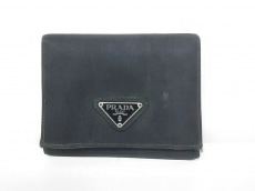 PRADA(プラダ) 3つ折り財布 - M176 黒 ナイロン
