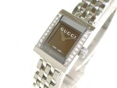GUCCI(グッチ) 腕時計 128.5 レディース ミラー文字盤/ダイヤベゼル