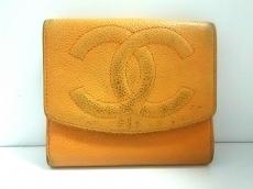 CHANEL(シャネル) Wホック財布美品  - ライトブラウン ココマーク