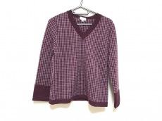 バレンシアガ 長袖セーター レディース美品  ボルドー×パープル