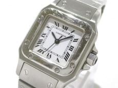 カルティエ 腕時計 サントスガルベSM W20054D6 レディース SS 白