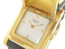 HERMES(エルメス) 腕時計 メドール - レディース 革ベルト/○Y 白