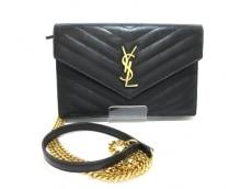 サンローランパリ 財布 モノグラム・サンローランエンベロープ 黒