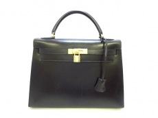 HERMES(エルメス) ハンドバッグ ケリー32 黒 ゴールド金具/外縫い