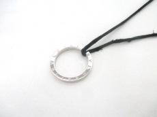 ブルガリ ネックレス美品  ブルガリブルガリ シルバー×レザー 黒