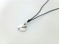 ポメラート ネックレス美品  シルバー×化学繊維 シルバー×黒