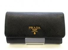 PRADA(プラダ) 3つ折り財布美品  - 1MH404 黒 レザー