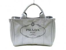 PRADA(プラダ) ハンドバッグ CANAPA B2439G グレー×ダークグレー