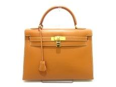 エルメス ハンドバッグ ケリー32 ナチュラル ゴールド金具/外縫い