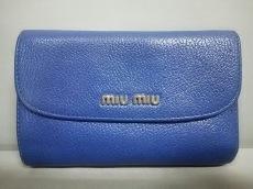 miumiu(ミュウミュウ) 3つ折り財布 - 5M1225 ブルー レザー