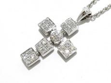 ブルガリ ネックレス美品  ルチア ラテンクロス K18WG×ダイヤモンド