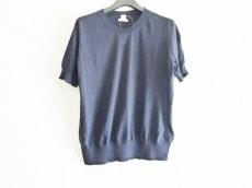 エルメス 半袖セーター サイズ40 M レディース美品  ダークネイビー