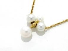mikimoto(ミキモト) ネックレス美品  K18YG×パール 白