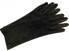 ボッテガヴェネタ 手袋 7 1/2 レディース美品  ボルドー パンチング