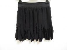 ダイアグラム スカート サイズ36 S レディース美品  黒 フリル