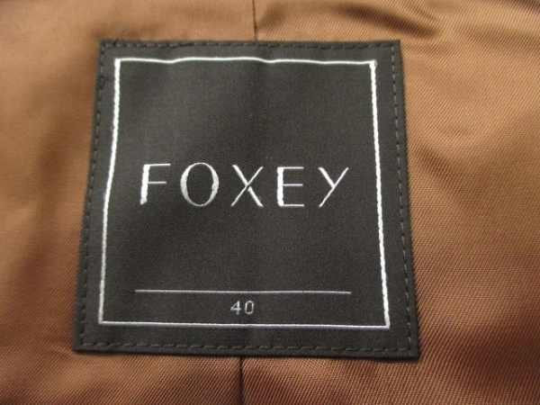 美品 FOXEY(フォクシー) ダウンコート レディース 40 黒 - 6